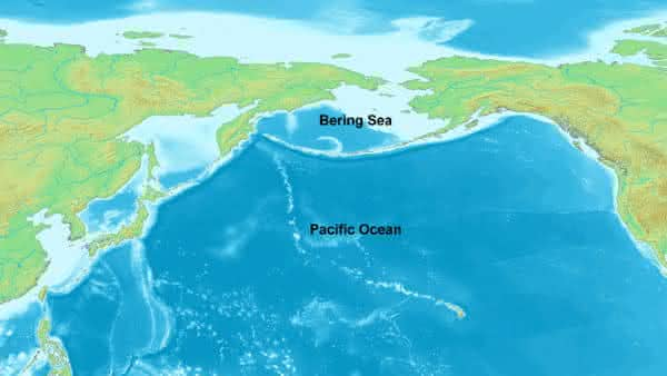 mar de bering entre oceanos e mares mais profundos do mundo