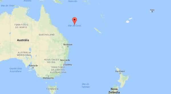 mar de coral entre os maiores mares do mundo