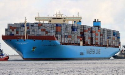 Maersk Mc-Kinney Moller entre as maiores embarcacoes do mundo