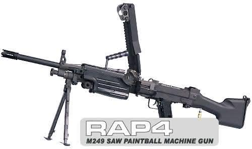 RAP4 249 Minimi SAW entre as armas de paintball mais caras do mundo