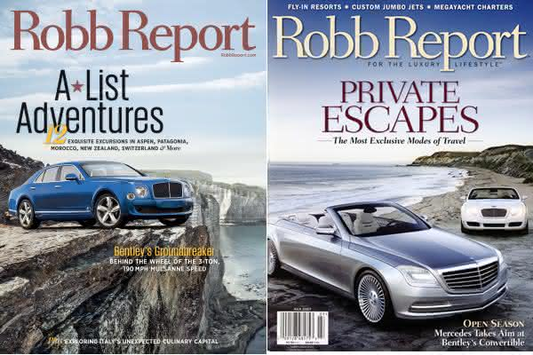 Robb Report entre as revistas mais caras do mundo