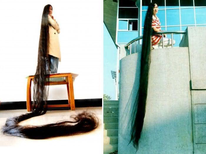 Dai Yue Qin entre os cabelos mais longos do mundo