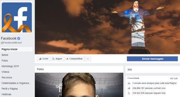 facebook entre as paginas mais populares do facebook