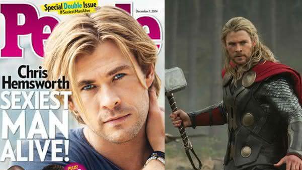 Chris Hemsworth entre os homens mais sexy dos ultimos 10 anos