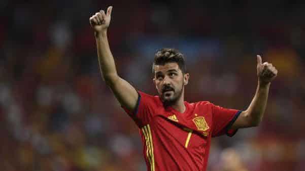 David Villa entre os melhores jogadores espanhois de todos os tempos