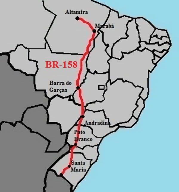 BR-158 entre as maiores rodovias do brasil