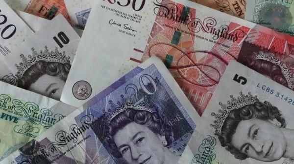 libra esterlina entre as moedas mais usadas no mundo
