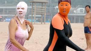 Facekini tendencias de modas más Raras del mundo