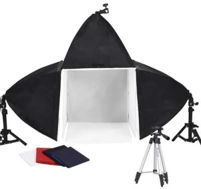 Cube-Light-Tent-Backdrop-3x-SoFtboxes-Table-Lighting-Kit-150w-Photo-Studio