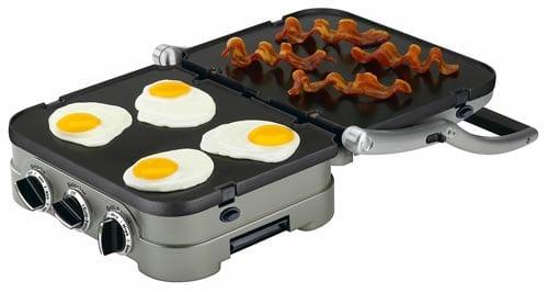 Cuisinart-GR-4N-5-in-1-Griddler,-Silver,-Black-Dials