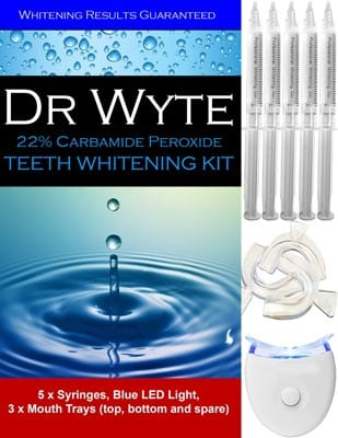 Dr-Wyte-Deluxe-Teeth-Whitening-Kit-Bleaching-with-5-XL-Carbamide-Peroxide-Gel-Syringes-Remineralizing-Syringe-Blue-LED-Light