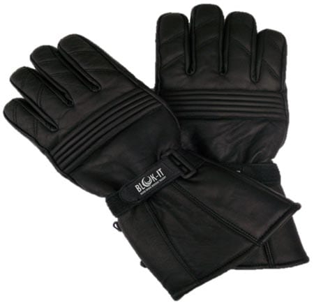 Full-Leather-Motorcycle-Gloves-by-Blok-IT.-Gloves-are-Waterproof,-Thermal,-3M-Thinsulate-Material.-For-Bikers,-Motorcycles-&-Motorbikes.
