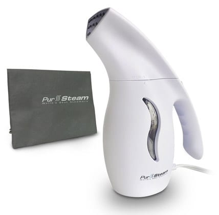 PurSteam-850-Watt-Fabric-Steamer,-Commercial-Grade,-Fast-Heat-Aluminum-Heating-Element-With-Travel-Pouch,-For-Home-&-Travel