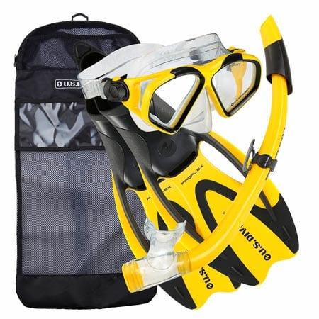 U.S.-Divers-Adult-Cozumel-Mask-Seabreeze-II-Snorkel-Proflex-Fins-Gearbag