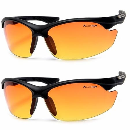 Xloop-HD-Vision-High-Definition-Anti-Glare-Driving-Lens-Sunglasses-Wrap-Semi-Rimless-Sports-Eyewear
