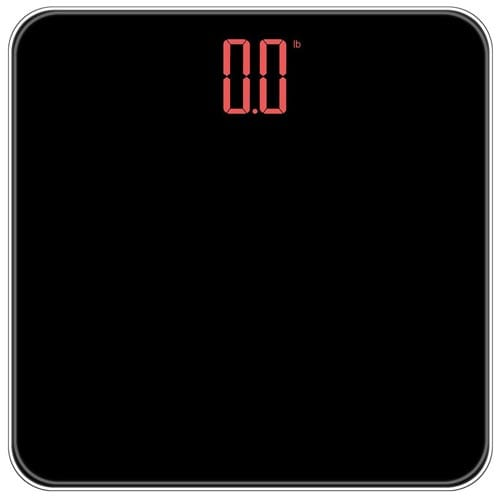 INSEN-Precision-Digital-Body-Weight-Bathroom-Scale,-with-Hidden-Large-LED-display,-Large-Platform,-Smart-Step-on-Technology,-Black
