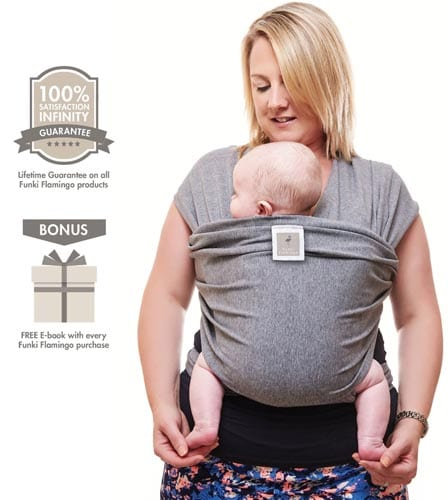 Premium-Baby-Carrier-Neutral-Grey-Baby-Wrap-Carrier