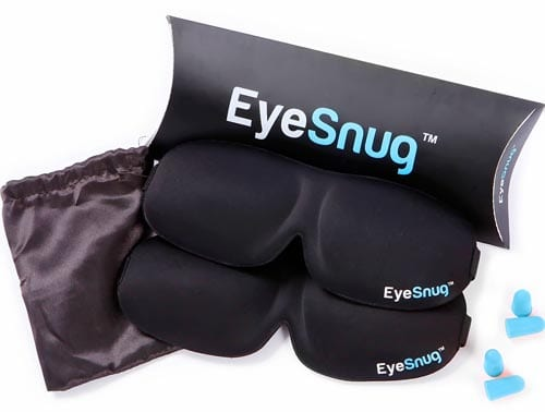TravelSnugs-The-EyeSnugs-Countoured-Sleep-Masks-with-Ear-plugs-and-Carrying-Pouch,-Pack-of-2