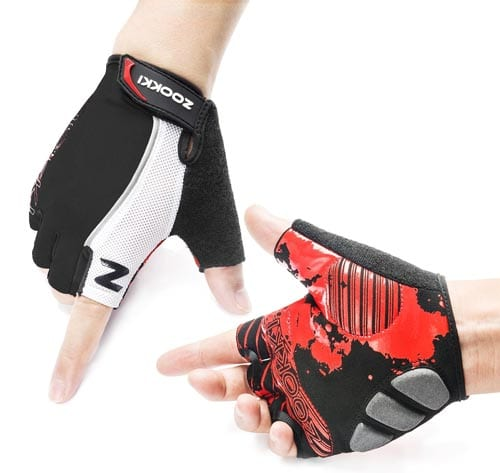 Zookki-Cycling-Gloves-Mountain-Bike-Gloves-Road-Racing-Bicycle-Gloves-Light-Silicone-Gel-Pad-Riding-Gloves-Half-Finger-Biking-Gloves-Men-Women-Work-Gloves