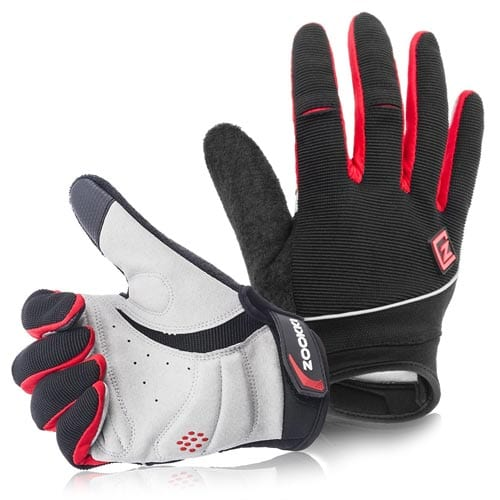 Zookki-Cycling-Gloves-Mountain-Bike-Gloves-Road-Racing-Bicycle-Gloves-Light-Silicone-Gel-Pad-Riding-Gloves-Touch-Recognition-Full-Finger-Gloves-Men-Women-Work-Gloves