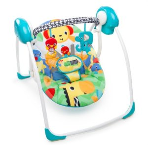 6. Bright Stars Safari Smiles Portable Baby Swing