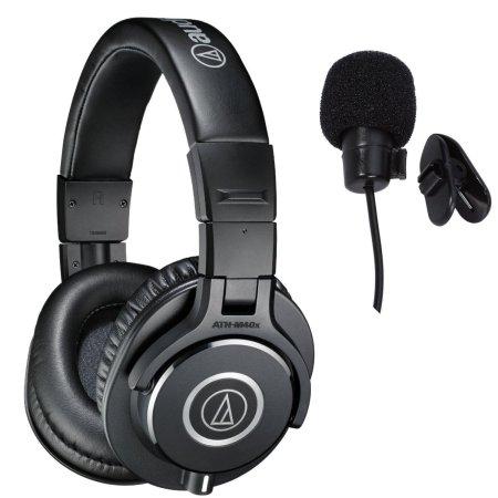 10. Audio-Technica ATH-M40x Professional Studio Monitor Headphones Deluxe Bundle