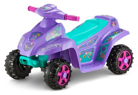 2. Kid Trax Moto Trax 6V Toddler Quad Ride On, Purple