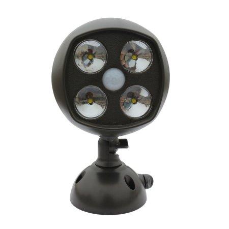 4.Yustar 600-Lumen Weatherproof Wireless Ultra Bright LED Spotlight
