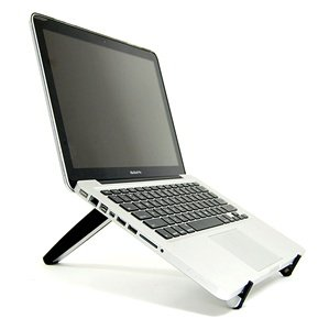 10. Cosmos Black HARD adjustable Portable Multiple angle Stand for laptop notebook computer