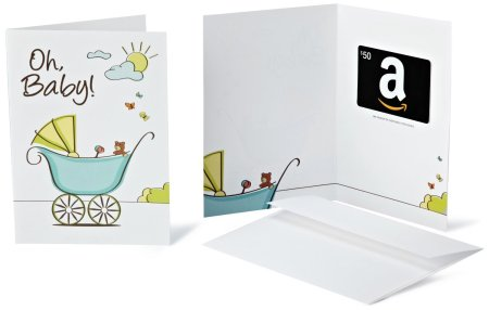 2.Amazon.com Gift Cards In a Greeting Card
