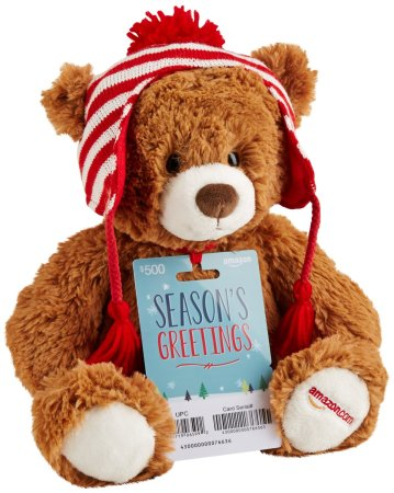 3.Amazon.com Gift Cards with Limited Edition Gund Teddy Bear