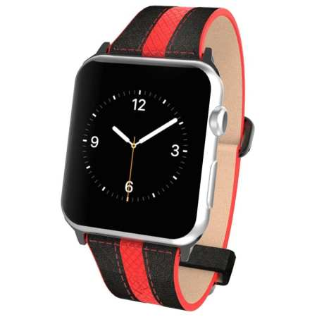 5.Apple Watch Pebble Leather Dual Material Band