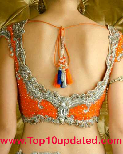 Top Ten Indian Back Side Blouse Fashion Styles Blouse Designs