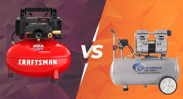 Pancake VS Hot Dog Air Compressor