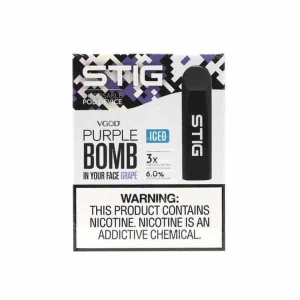 STIG Iced Purple Bomb Disposable Pod