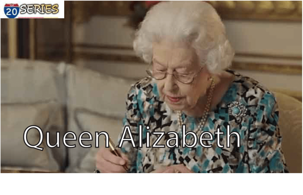 Queen Elizabeth signed her message to the Commonwealth