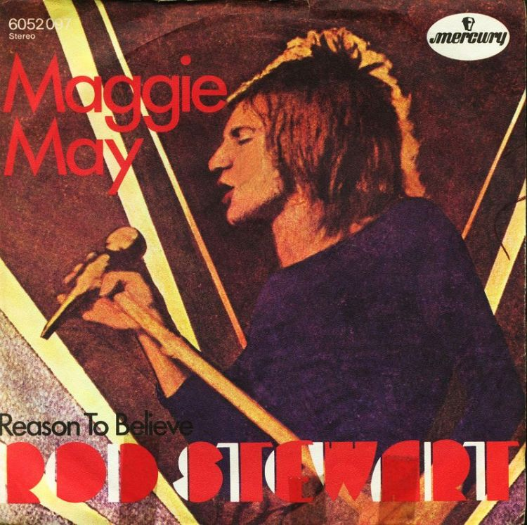 Rod Stewart - Maggie May record cover