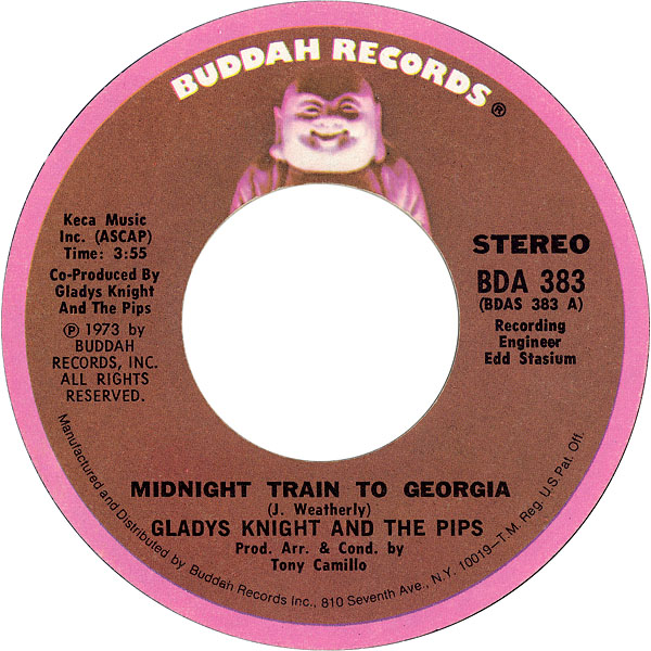 Gladys Knight and the Pips - Midnight Train To Georgia 7-inch label
