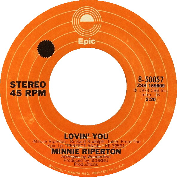 LOVIN' YOU - Minnie Riperton record cover