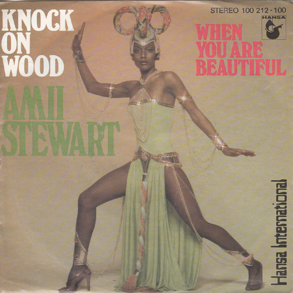 KNOCK ON WOOD - Amii Stewart record cover