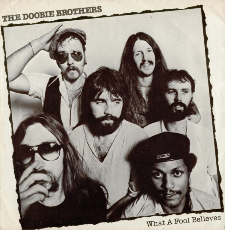 WHAT A FOOL BELIEVES - The Doobie Brothers record cover
