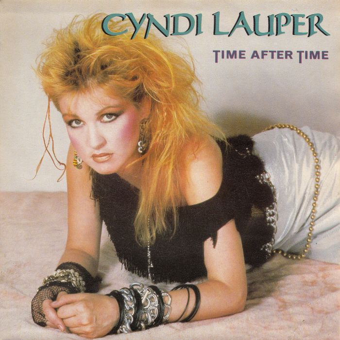 Cyndi Lauper Time After Time record cover