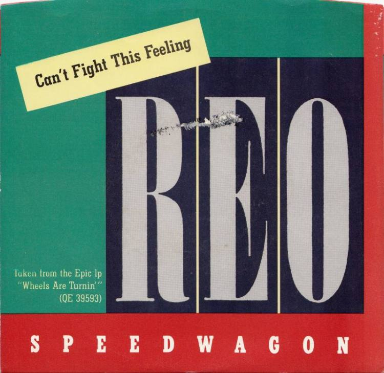 Reo Speedwagon Can't Fight This Feeling record cover