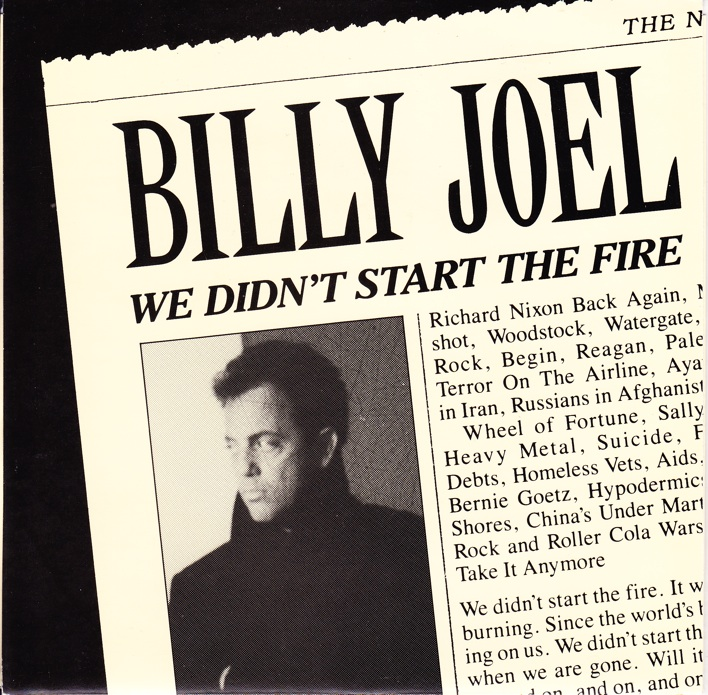 Billy Joel we didn't start the fire record cover