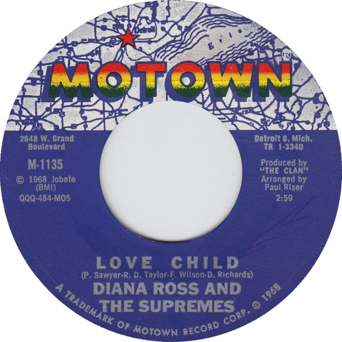 Diana Ross and the Supremes - Love Child 7-inch label