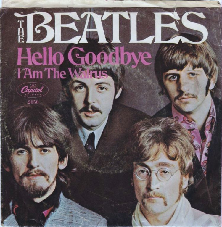 The Beatles - Hello Goodbye Record cover
