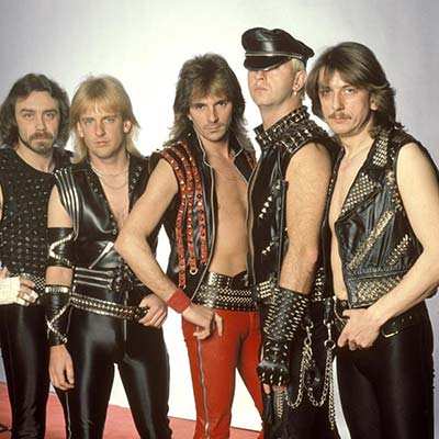 80's band Judas Priest posing - circa 1980's