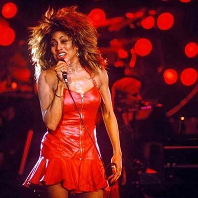 Tina Turner on stage circa 1987