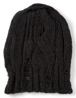 mens-knit-hat-torn-black