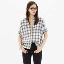 flannel courier shirt in plaid